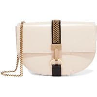 Lanvin - Lien chain-trimmed leather shoulder bag