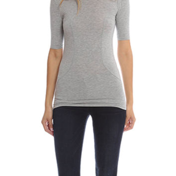 T by Alexander Wang Stretch Top with Stitch Detail