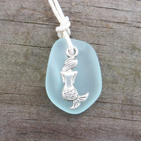 Pale Aqua Mermaid Sea Glass Necklace by Wave of Life