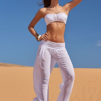 White Designer Beach Pants