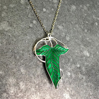 Elvish Leaf Necklace