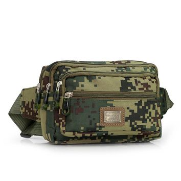 Casual Men Camouflage Casual Outdoor Sport Waist Bag