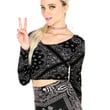 BANDANA LONG SLEEVE CROP TOP