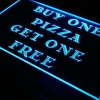Pizza Buy One Get One Free LED Neon Light Sign