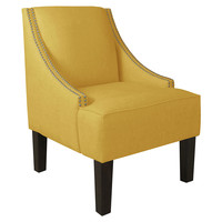 Cam Swoop-Arm Chair, Yellow, Accent & Occasional Chairs