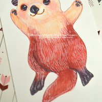 "Otterly Adorable Glossy 6"" x 4"" glossy print!  Buy three prints get a set of 3 stickers your choice!"