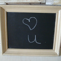 Chalkboard Old Picture Frame Cream  Shabby Chic Old