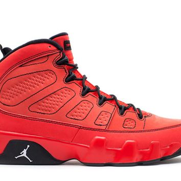 [Free Shipping ]Nike Air Jordan 9 Retro Motorboat Jones Red Suede 302370 645 Basketball Sneaker