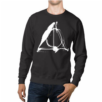 Harry Potter Deathly Hallows Smoke Unisex Sweaters - 54R Sweater
