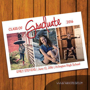 Graduation Announcement / Graduation / College / Announcement / High School / High School Graduation / Photo Announcement