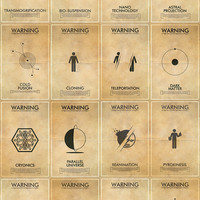 Save 25% with 16 Fringe Science Fiction Poster Set - 16 Fantasy Inspired Vintage Warning Posters