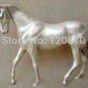 Free Shipping Rare Asian solid silver exquisite ornaments horse statue