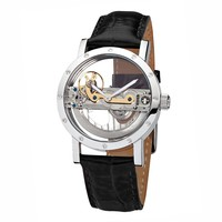 Ansgar Kjeld Automatic Full Skeleton Leather Band Men's Watch NibeLSS