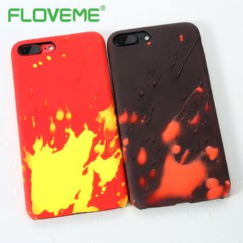 FLOVEME Thermal Discoloration Protective Back Case For iPhone X Soft Silicone Cover For iPhone 6 6S 7 7 Plus Phone Accessories