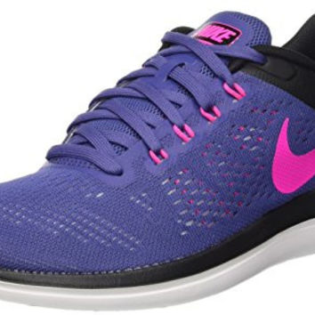 NIKE WOMEN FLEX 2016 RN RUNNING SHOES (8.5 B(M) US, Multicolore (Dk Purple Dust/Pink Blast-Black))