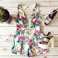 Print Casual Women Rompers and Jumpsuits [4905533316]