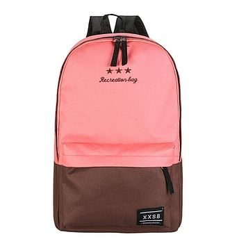 New Arriving Women Polyester Fiber Backpack Preppy Style Teenagers School Bags Girls Laptop Trave Patchwork Backpack
