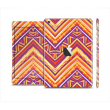 The Red, Yellow and Purple Vibrant Aztec Zigzags Skin Set for the Apple iPad Mini 4