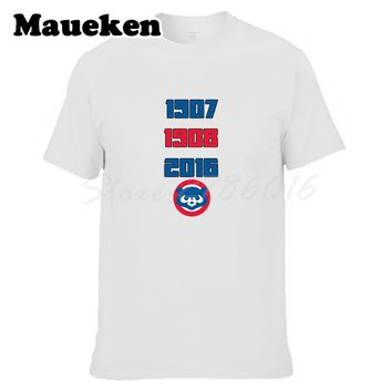 Men Chicago 1907 1908 2016 Three times World Series Champions Amazing Inspiring Title Cubs T-Shirt T shirt W1018006