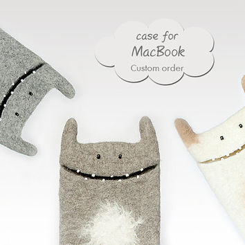 MacBook felt case, Custom orders, MacBook Pro cases, MacBook Air cases, Monster case, eco friendly case, wool sleeve