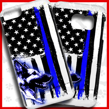 Thin Blue Line iPhone and Galaxy Phone Cases