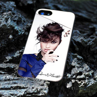 Custom Design Hard Plastic for iPhone 4 / 4s Case and iPhone 5 Case, Beautiful Demi Lovato