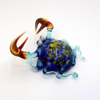 Glass Sea Crab Figurine Sea Crab Sculpture Sea Crab Figure Glass Figurine Glass Figure Animal Sculpture Figurine Handmade  Sea Crab(250)
