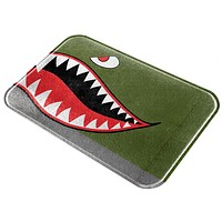 Halloween WWII Flying Tiger Fighter Shark Nose Art Glass Cutting Board