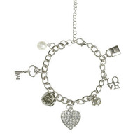 Love Block Charm Bracelet | Shop Jewelry at Wet Seal