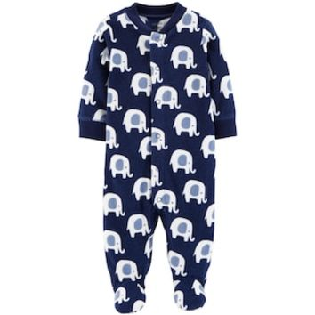 Baby Boy Carter's Elephant Print Microfleece Sleep & Play | null