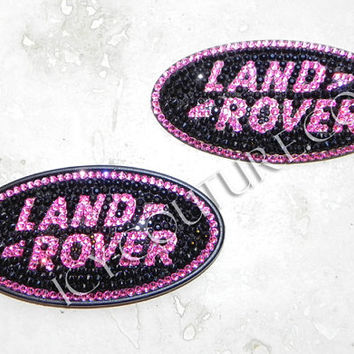 Crystal BLING Land Rover Over Emblem Swarovski crystals