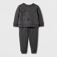 Baby Boys' 2pc Bear Sweatshirt and Jogger Set - Cat & Jack™ Gray