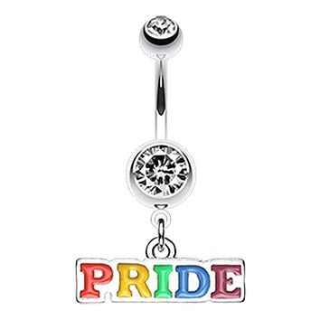 Rainbow Pride Dangle WildKlass Belly Button Ring