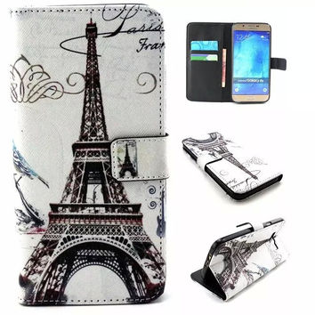 Eiffel Tower Print Leather creative case Cover Wallet for iPhone & Samsung Galaxy