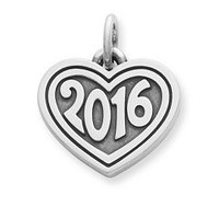 """Heart with """"2016"""" Charm 