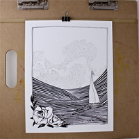 Nautical art print from JeffMac - Free US shipping!