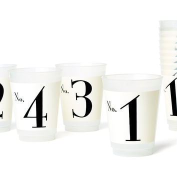 Asst. Number 1-12 Plastic Cups, Set of 12, Tumblers, Water & Juice