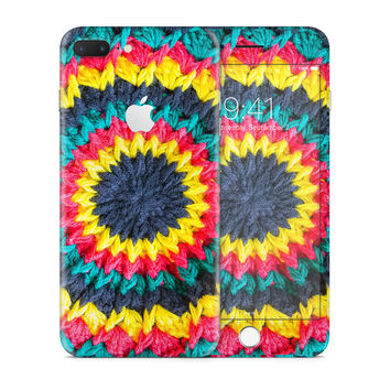 Multicolored Crochet Circle Skin for the Apple iPhone