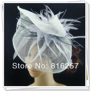 Free shipping multiple color high quality fascinators/nice wedding accessories/ sinamay fascinator hats/event headwear FS113