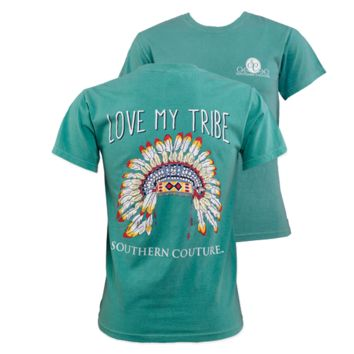 Southern Couture My Tribe Feathers Comfort Colors T-Shirt