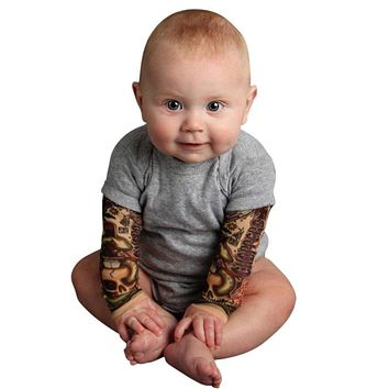 Newborn Baby Kids Boys Girls Funny Long Sleeves Bodysuits Patchwork Jumpsuit Baby Clothing Outfit 0-18M