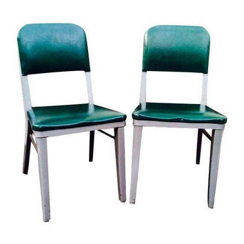 Steelcase green office chairs- set of 2, MadMen...