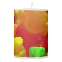 Gummy Bear Crowd Pillar Candle