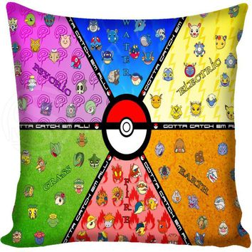G0309 New arrived  Pillow Case Zippered Custom Square Pillowcase MORE SIZE SQ00614-H01Kawaii Pokemon go  AT_89_9