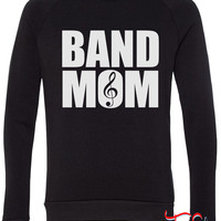 Band Mom fleece crewneck sweatshirt