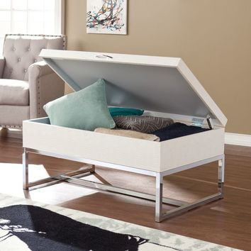 Harper Blvd Mirren Cream Reptile Storage Coffee/ Cocktail Table | Overstock.com Shopping - The Best Deals on Coffee, Sofa & End Tables
