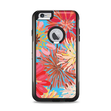 The Brightly Colored Watercolor Flowers Apple iPhone 6 Plus Otterbox Commuter Case Skin Set
