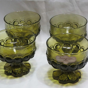 Vintage Franciscan Crystal Madeira Sherbets / Champagne / Ice cream Dishes / Compotes