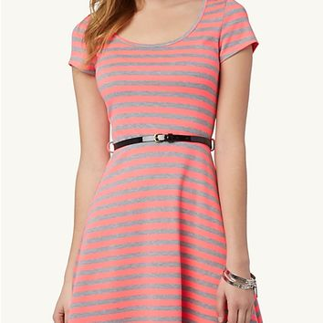 Striped Skater Dress