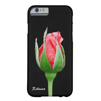 Pink rose bud barely there iPhone 6 case